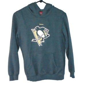 Reebok Kids Pittsburgh Penguins Hoodie Sz L 14-16